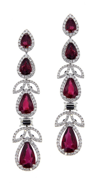 Entice diamond and Mozambique ruby earrings