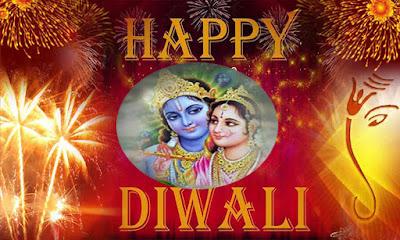 Radha Krishna Diwali Image