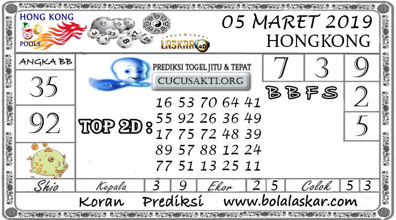 Prediksi Togel HONGKONG LASKAR4D 05 MARET 2019