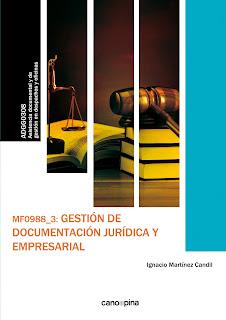 MF0988 Gestión de documentación jurídica y empresarial