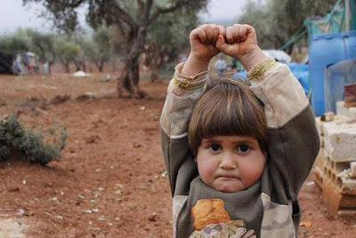σε ένα καταυλισμό Σύρων προσφύγων
