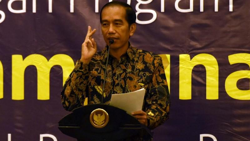 Presiden Jokowi menyampaikan sambutan pada peluncuran Program Pengampunan Pajak