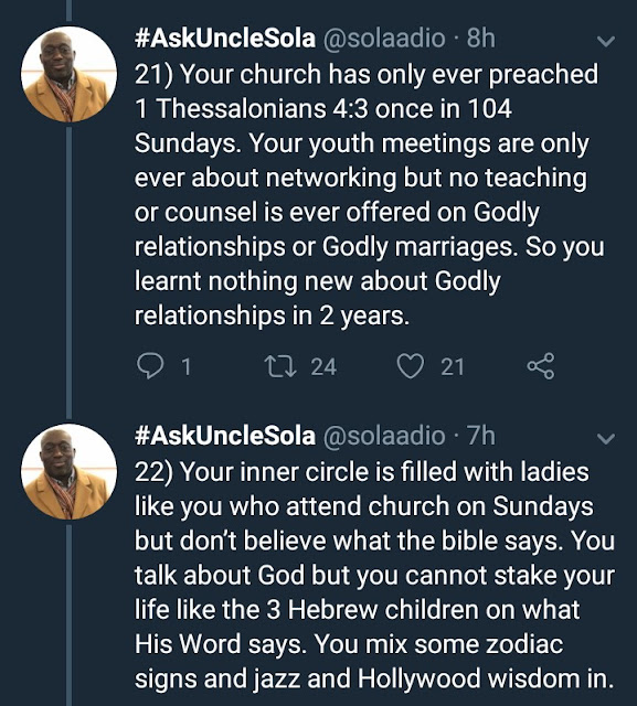 This thread on women who get their hearts broken in church is an interesting read