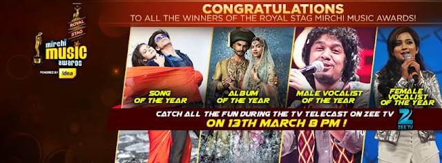Winners List of ​8th Mirchi Music Awards 2016