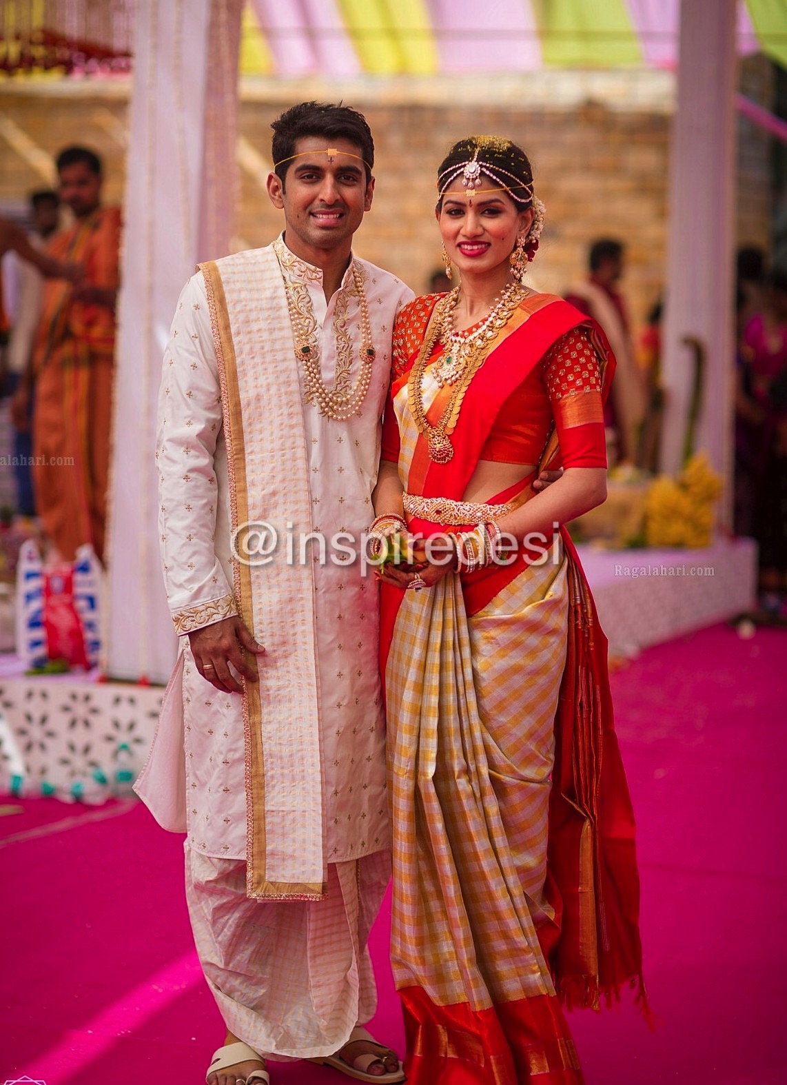South Indian Wedding Dress For Bride And Groom | Wedding