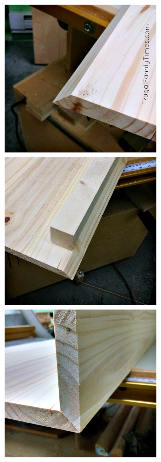 floating wood vanity edges