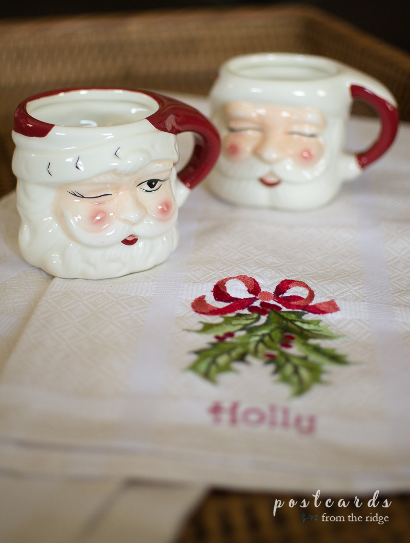 Love these mugs! Great ideas for making the house cozy during the holidays.