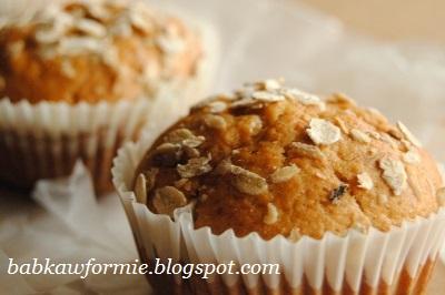 babeczki muffiny muffinki bananowe z krówkami babkawformie.blogspot.com