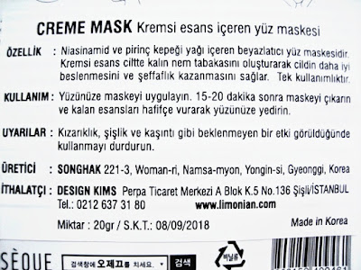 OSEQUE CREME MASK