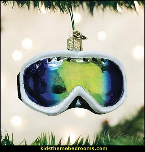 Old World Christmas Glass Blown Ornament Ski Goggles