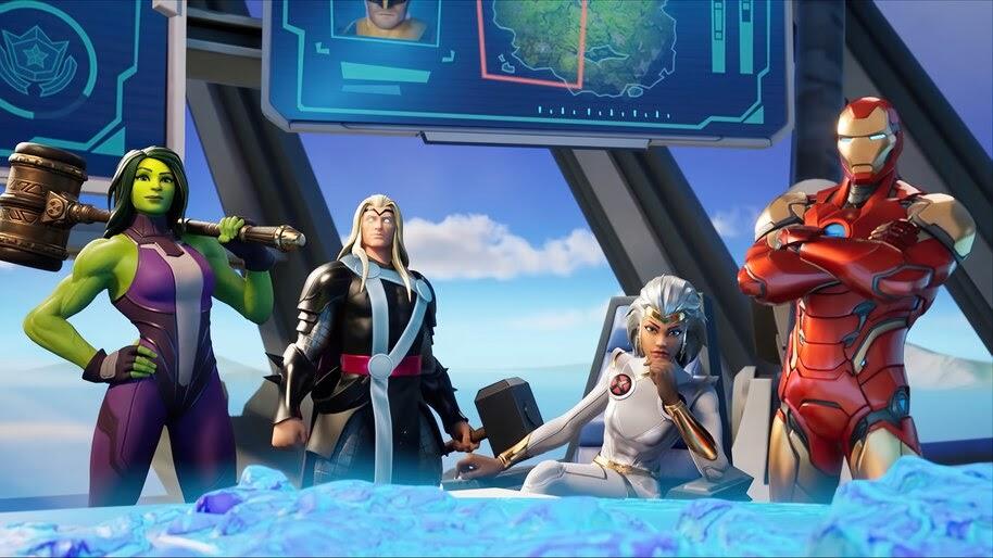 Fortnite, She-Hulk, Thor, Storm, Iron Man, 4K, #7.2567