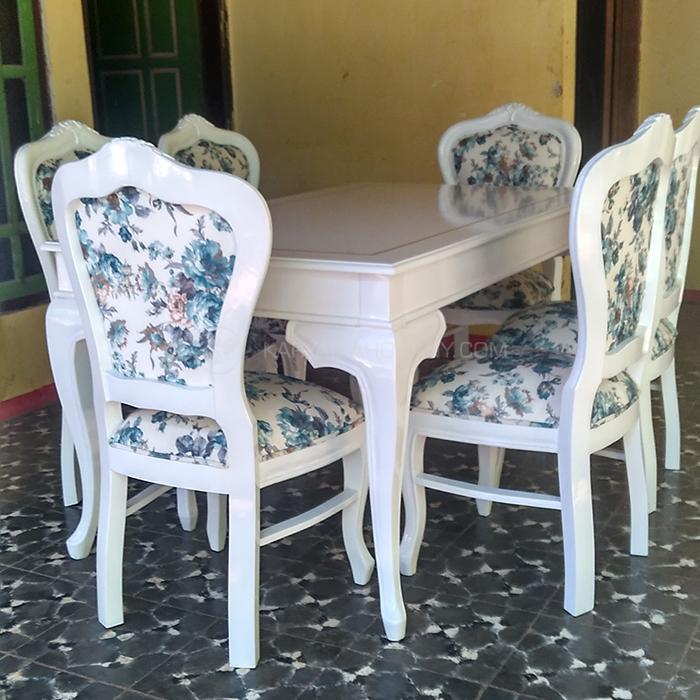 Meja Makan Duco Putih | Model Meja Makan Duco Putih