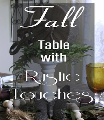 Fall or Autumn Tablescape