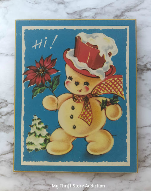Vintage Christmas card art