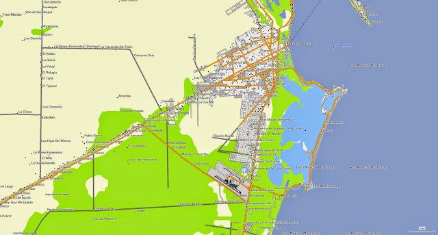 GPS Cancun map