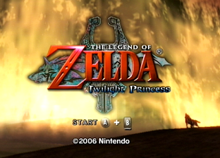 Pantalla de título: The Legend of Zelda: Twilight Princess (2006, Wii)