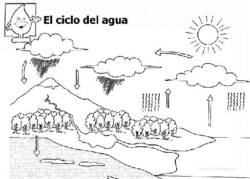 Dibujos Para Colorear Del Ciclo Del Agua Para Ninos: Cuarto De Primaria: RECUERDA