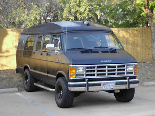 Nice shot of the van painted with bedliner