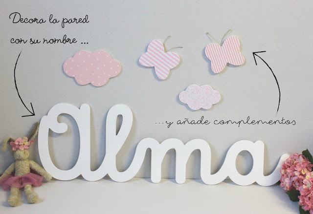 letras y nombres ALMA para decoración habitación infantil