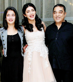 kamal hasan with daughters, shuruti hasan, kamal hasan family, akshara hasan