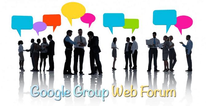 Google Web Forum For Blogger
