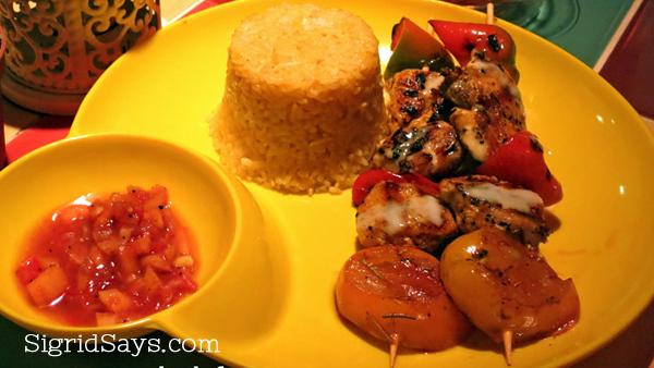 Spice Kitchen chicken kebab