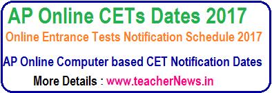 AP CETs Dates 2017