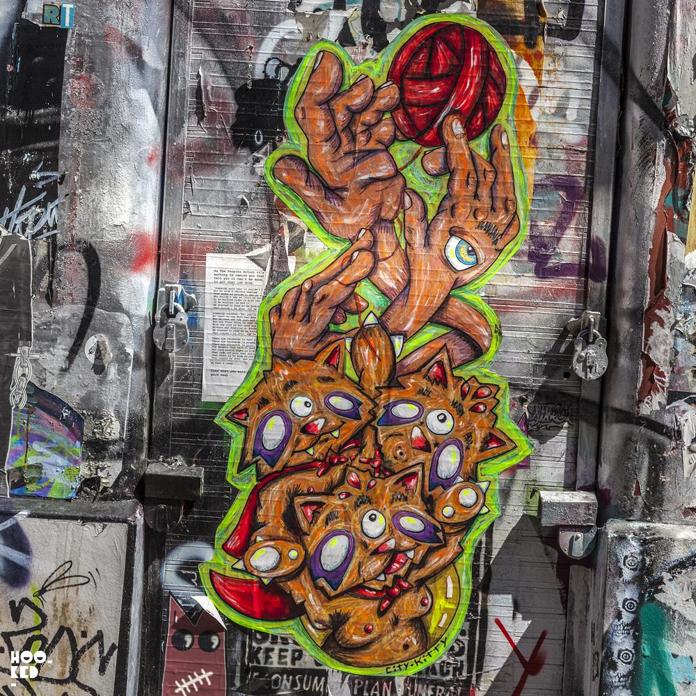 New York Street Artist City Kitty Revisits London