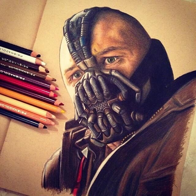 03-Bane-Tom-Hardy-Chris-Superhero-and-Villain-Realistic-Pencil-Drawings-www-designstack-co