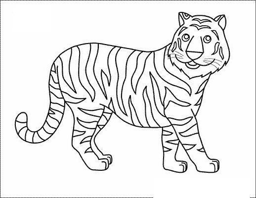 Tranh tô màu con hổ cho bé