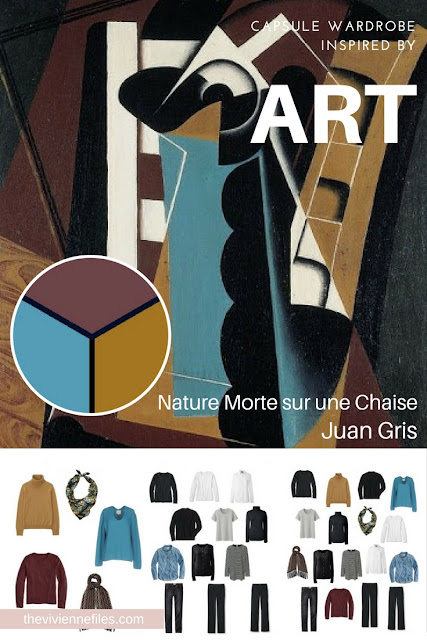 """Start with Art: A """"French 5-Piece Wardrobe"""" Based on Nature Morte sur une Chaise by Juan Gris"""