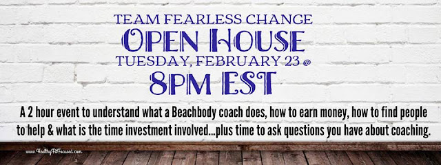 Team Fearless Change Open House, Julie Little Fitness, www.HealthyFitFocused.com