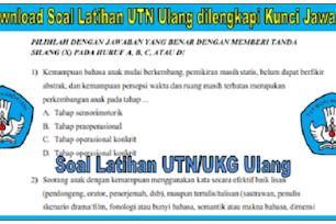 Download Kisi-kisi dan Soal Latihan UKG UTN Ulang 2 Dan 4 Lengkap