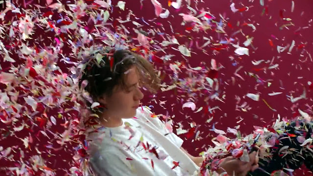 One of my favourite scene in this video is when Brooklyn Beckham showered with flower petals