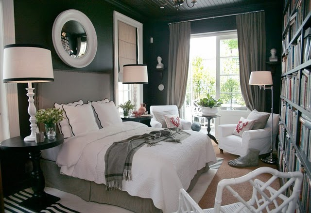 The fine living muse beautiful master bedroom ideas with for Black n white bedroom