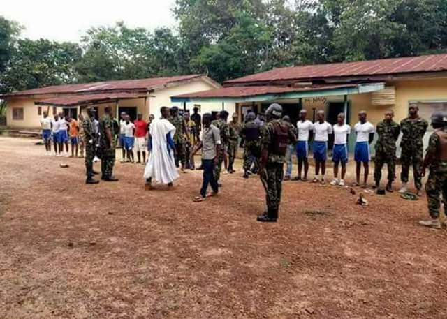 Photos: Army uncovers fake military base in Benue community