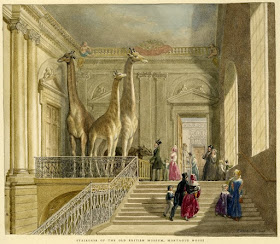 Staircase of the British Museum in Montagu House    Watercolour by George Scharf I (1845)    © Trustees of the British Museum