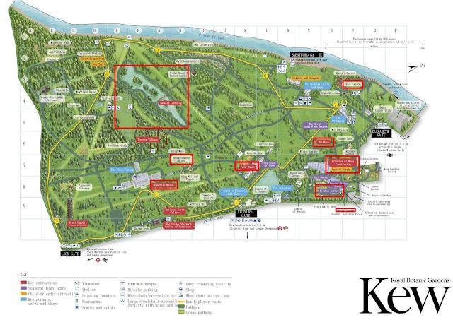 KEW Gardens 邱園地圖