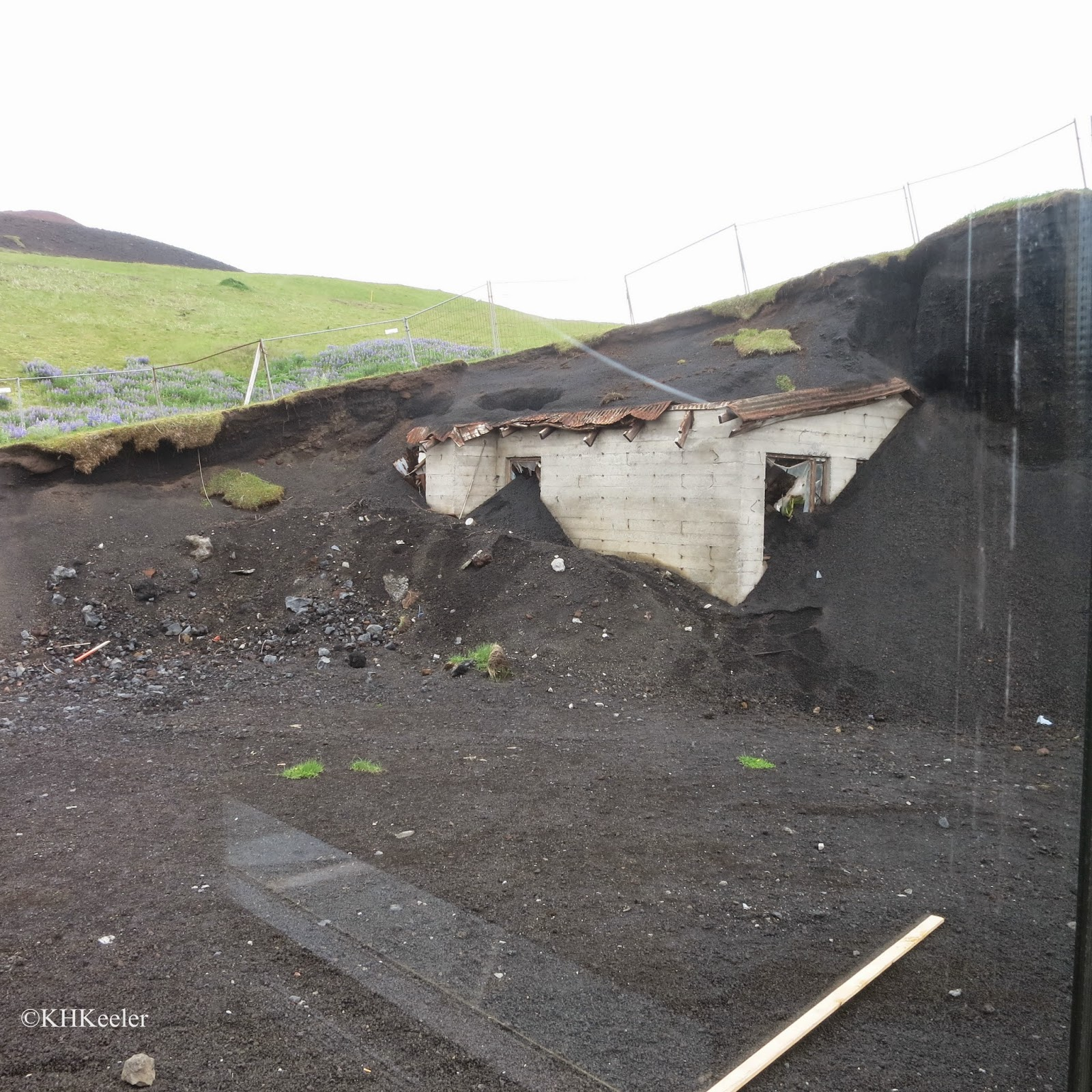 House mostly buried by Eldfell eruption, Westman Islands