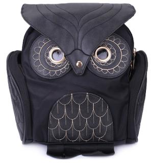 ruksak, sova, kul, cool, drugačiji ruksak, stil, crni ruksak jeftino, jeftina cijena, kožni ruksak, dresslily, online shop, webshop, poseban ruksak, torba, torba za školu, za svaki dan, svakodnevica, casual