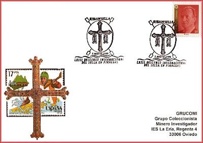 Tarjeta del matasellos del 63 Descenso Internacional del Sella, Piraguas 1999