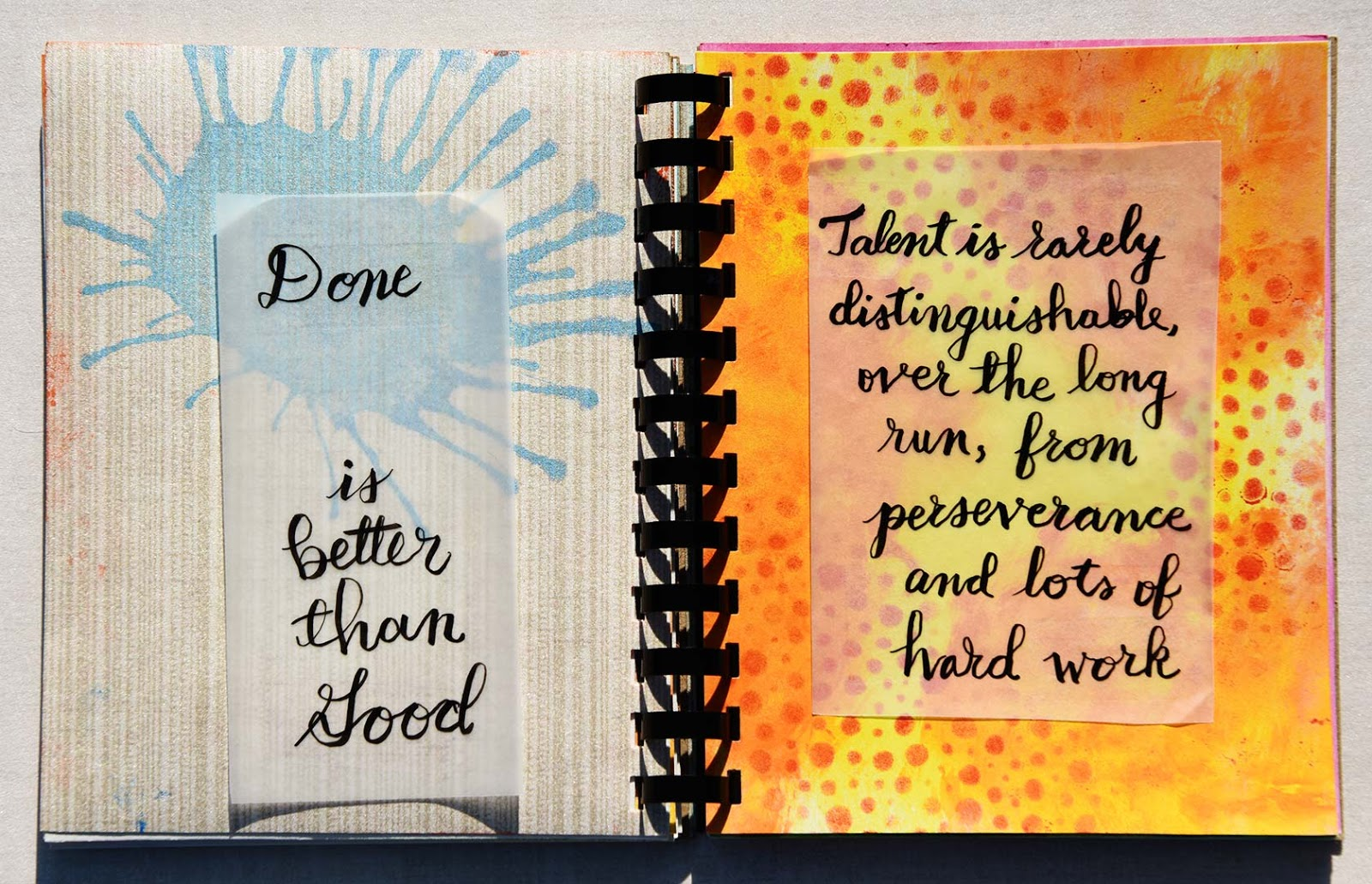 College Student mixed Media art journal by Jeanne Selep