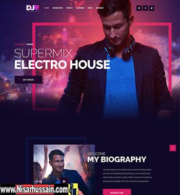DJ Rainflow Music Band Premium Theme