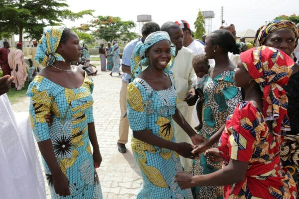 Chibok girls at the reunion in Abuja