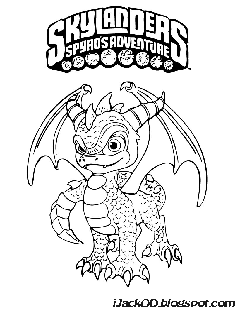 T.I.Y.: Skylanders Colouring Pages
