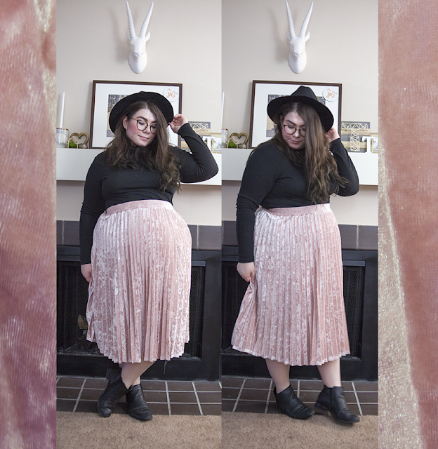 The Birthday Edit katielikeme.com velvet skirt pink velvet outfit