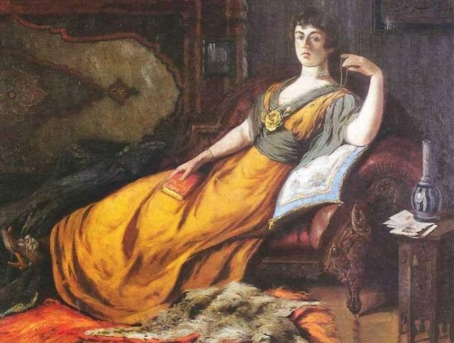 Sultan Abdulmejid paint of his wife