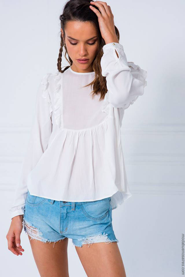 Blusas delicadas para mujer moda 2018.