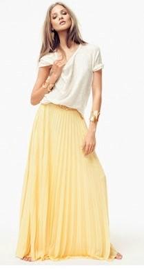 046e86251 Maxifalda plisado soleil ~ Moda en la Costura