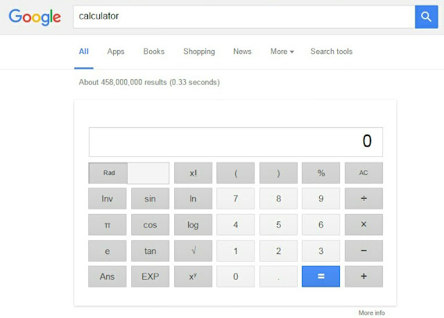 Google Calculator Preview